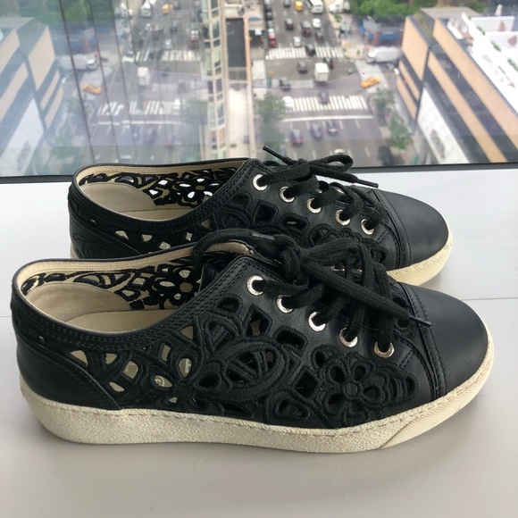 CHANEL Shoes   Chanel Black Lace Low